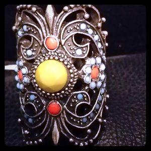 Jewelry - MULTI COLORED MULTI STONE RING 7.5